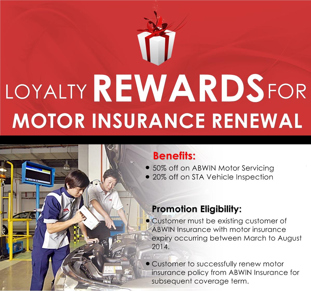 Loyalty Rewards For Motor Insurance Renewal